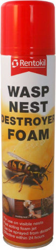 Rentokil Wasp Destroyer Foam 300ml Aerosol